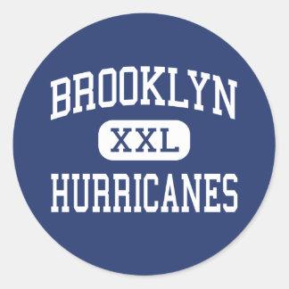 Brooklyn Hurricanes Middle Brooklyn Ohio Classic Round Sticker