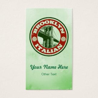 Brooklyn Italian American Custom Business Cards