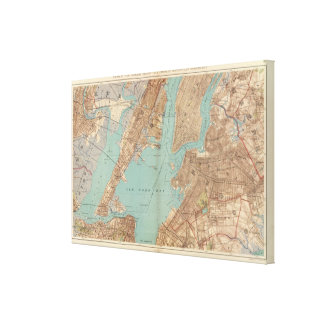 Brooklyn, Jersey City, and Hoboken Canvas Print