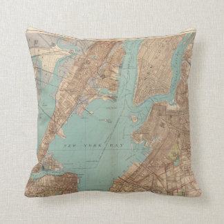 Brooklyn, Jersey City, and Hoboken Throw Pillow