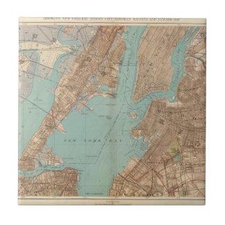Brooklyn, Jersey City, y Hoboken Azulejo Cuadrado Pequeño