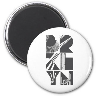 Brooklyn Lines 2 Inch Round Magnet