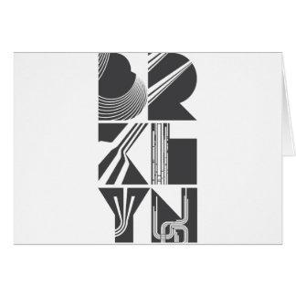 Brooklyn Lines Greeting Card