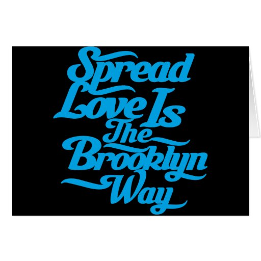 Brooklyn Love Blue Greeting Card