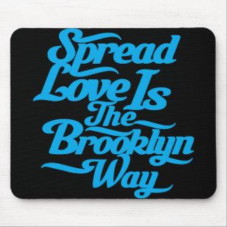Brooklyn Love Blue Mouse Pad