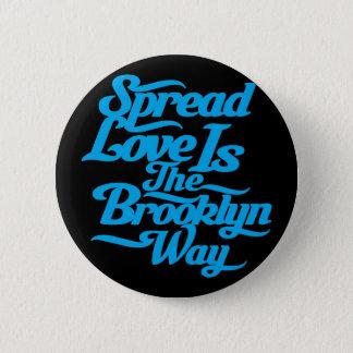 Brooklyn Love Blue Pinback Button