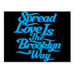 Brooklyn Love Blue Post Card
