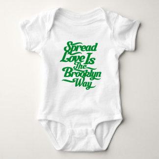 Brooklyn Love Green Baby Bodysuit
