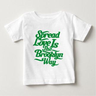 Brooklyn Love Green Baby T-Shirt