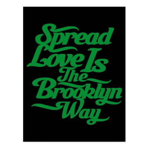Brooklyn Love Green Postcard