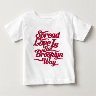 Brooklyn Love Red Baby T-Shirt