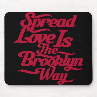 Brooklyn Love Red Mouse Pad