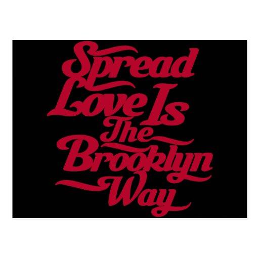 Brooklyn Love Red Postcard