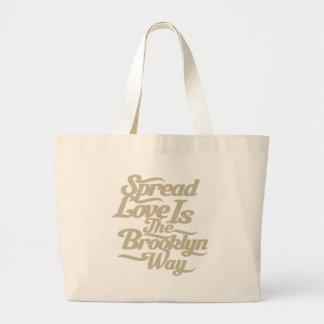 Brooklyn Love Tan Canvas Bag