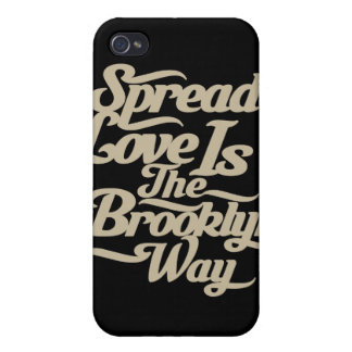 Brooklyn Love Tan Cover For iPhone 4