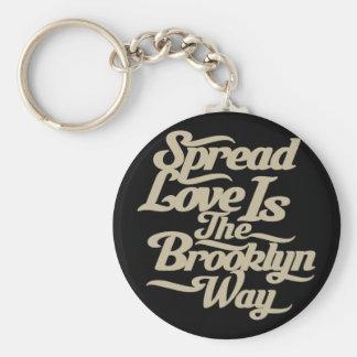 Brooklyn Love Tan Key Chain