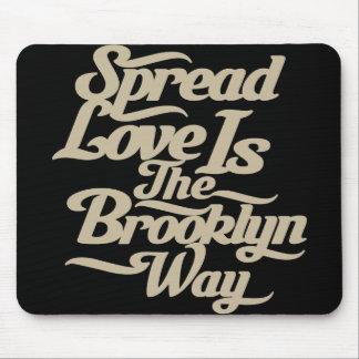 Brooklyn Love Tan Mouse Pad