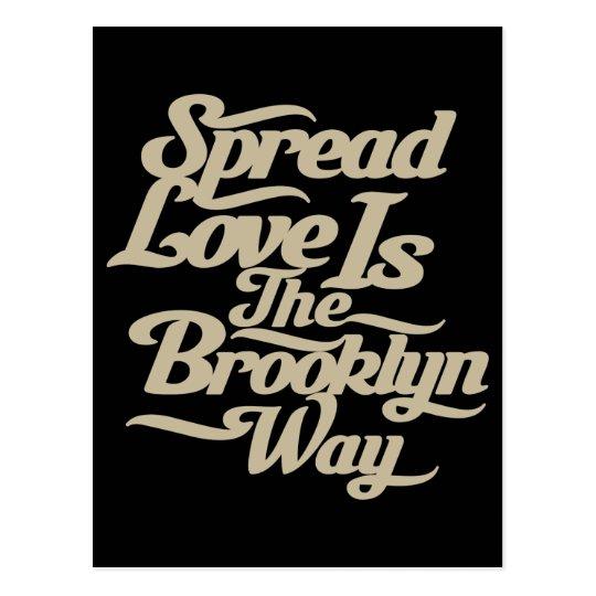 Brooklyn Love Tan Postcard