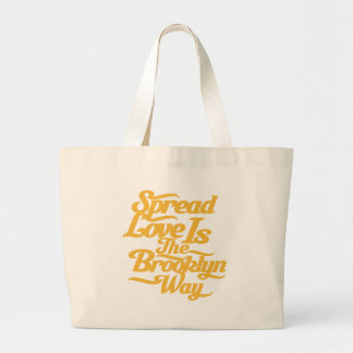 Brooklyn Love Yellow Large Tote Bag
