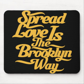 Brooklyn Love Yellow Mouse Pad