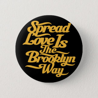 Brooklyn Love Yellow Pinback Button