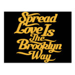 Brooklyn Love Yellow Postcard