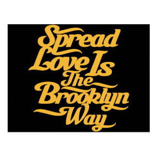 Brooklyn Love Yellow Postcards