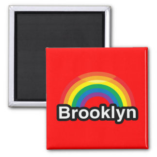 BROOKLYN 2 INCH SQUARE MAGNET