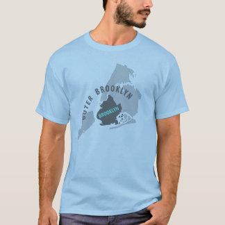 Brooklyn Map - Blue/Grey T-Shirt