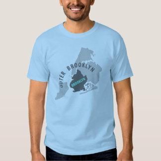 Brooklyn Map - Blue/Grey Tee Shirt