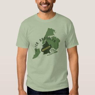 Brooklyn Map - Green T-shirt