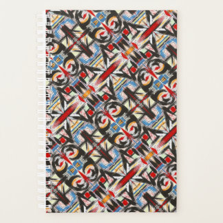 Brooklyn-Modern Geometric Brushstrokes Planner