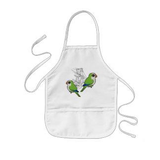 Brooklyn Monk Parakeets Kids' Apron