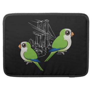 Brooklyn Monk Parakeets Sleeve For MacBooks