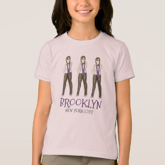 Brooklyn New York City NYC Girl Hipster Tee