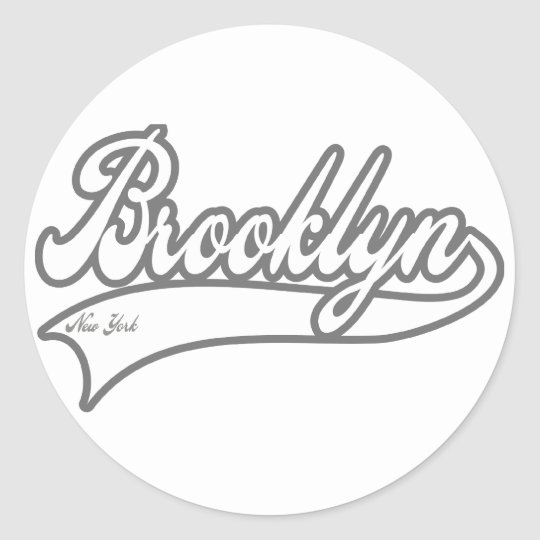 Brooklyn New York Classic Round Sticker