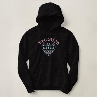 Brooklyn New York Embroidered Hoodie