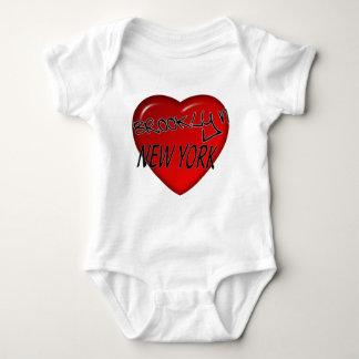 Brooklyn New York Heart Logo Baby Bodysuit