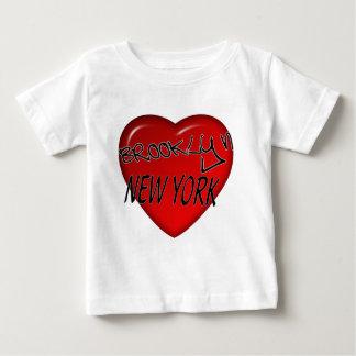 Brooklyn New York Heart Logo Baby T-Shirt