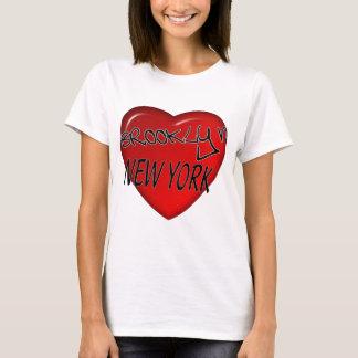 Brooklyn New York Heart Logo T-Shirt
