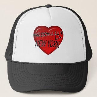 Brooklyn New York Heart Logo Trucker Hat