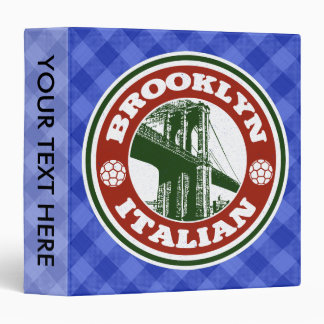 Brooklyn New York Italian American Ring Binder