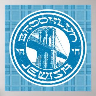Brooklyn New York Jewish Art Poster