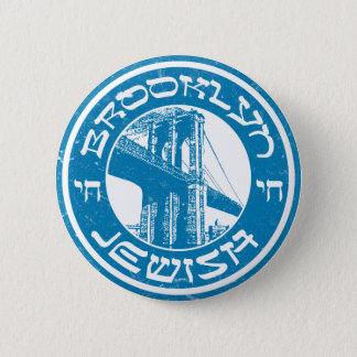 Brooklyn New York Jewish Pinback Button