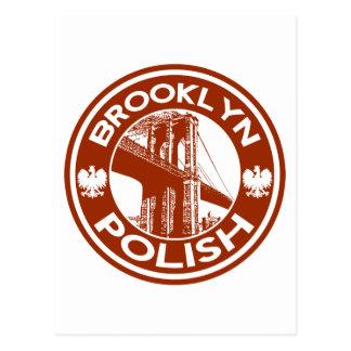 Brooklyn New York Polish Postcard
