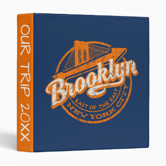 Brooklyn, New York | Retro Vintage Typography Binder