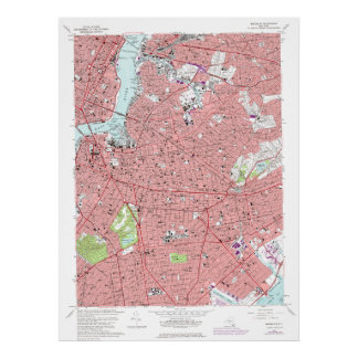 Brooklyn, New York Vintage (1969 rev 1979) Map on  Poster