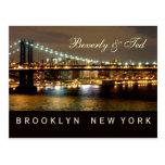 Brooklyn New York Wedding Design Post Card