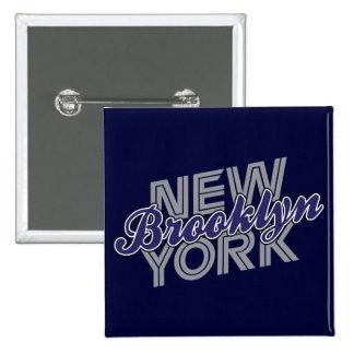 Brooklyn Nueva York - azul y gris Pin