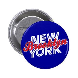 Brooklyn Nueva York - azul y rojo Pins